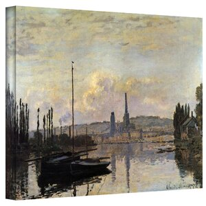 ''Dock'' by Claude Monet Print of Painting on Canvas by ArtWall