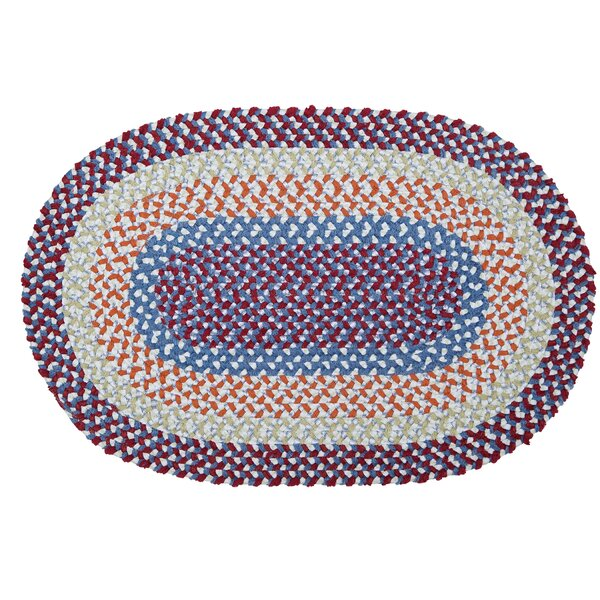 Servantes Hand-Braided Blue/Red Area Rug by Viv + Rae