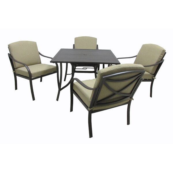 Boundary Bay 5 Piece Dining Set with Cushions by Darby Home Co