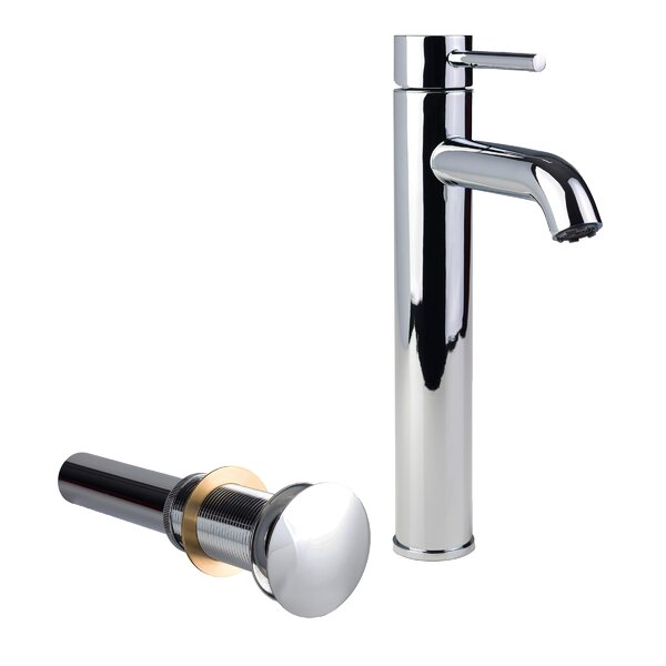 European Vessel Sink Bathroom Faucet with Drain Assembly by Fontaine by Italia