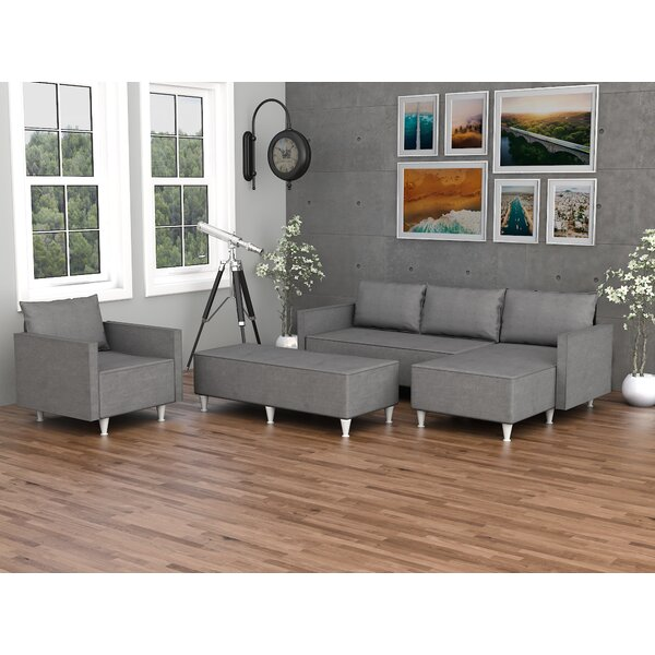 Rosalynn Reversible Sectional with Ottoman by Ivy Bronx