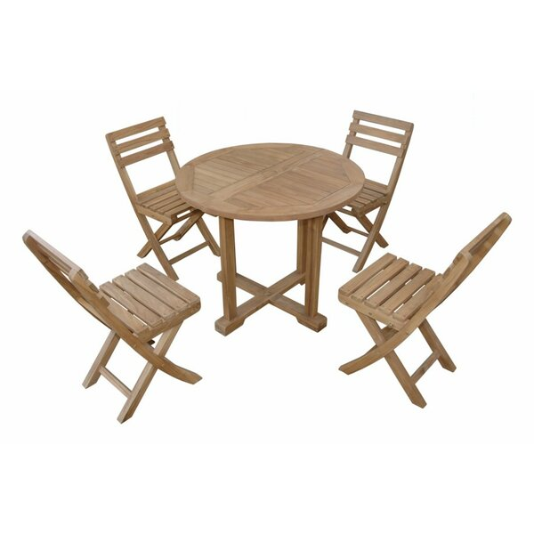Montage Alabama 5 Piece Teak Dining Set with Sunbrella Cushions by Anderson Teak
