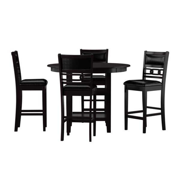 Jackins 5 Piece Counter Height Dining Set by Winston Porter Winston Porter