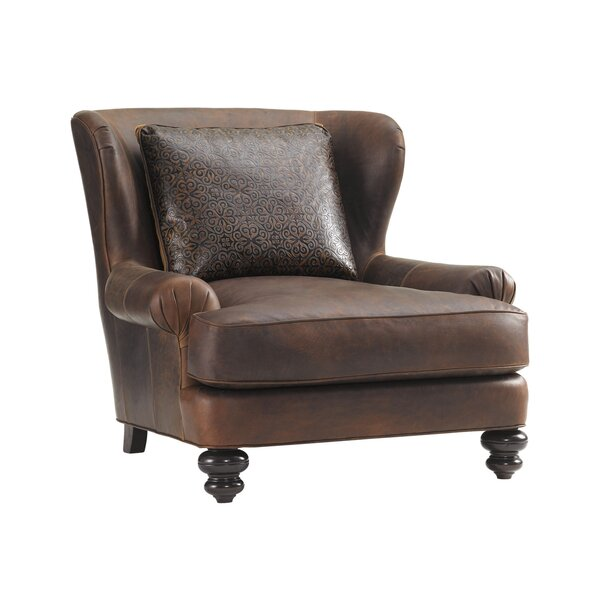 Kent Leather Club Chair by Tommy Bahama Home
