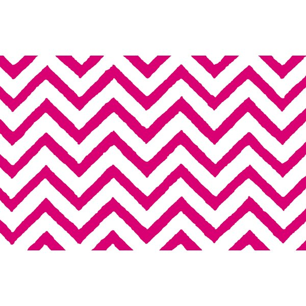 Zig Zag Chevron Pink Area Rug by Manual Woodworkers & Weavers