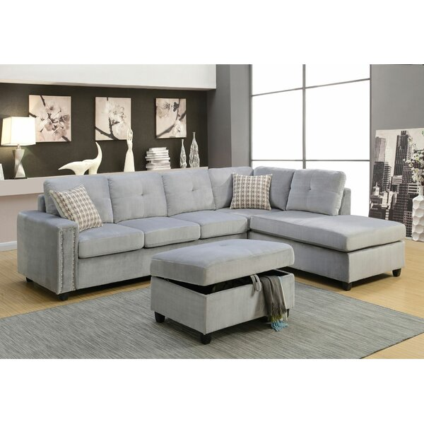 Last Trendy Ferebee Reversible Modular Sectional by Ebern Designs by Ebern Designs