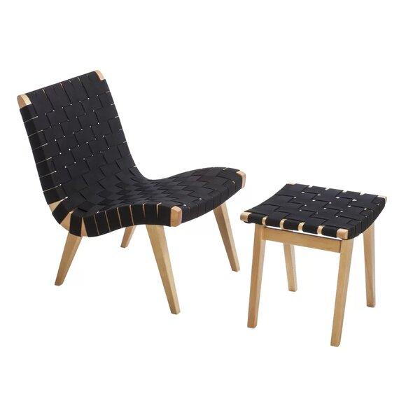 Walser Beach Lounge Patio Chair with Ottoman by Brayden Studio