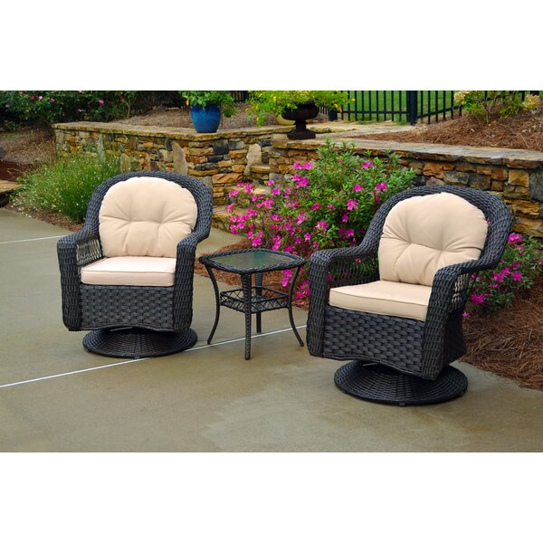 Griswold 3 Piece Conversation Set with Cushions by August Grove