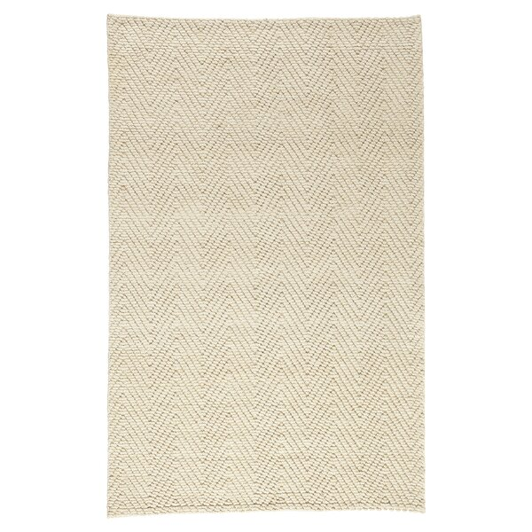 Honesdale Hand-Woven Ivory/Beige Area Rug by Three Posts
