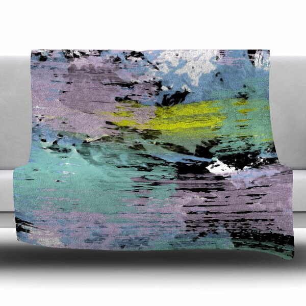 Watercolor Texture by Vasare Nar Fleece Blanket by East Urban Home