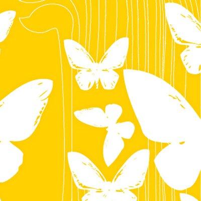 California 16' x 23.5'' Butterflies Wallpaper Kreme LLC Color: Yellow