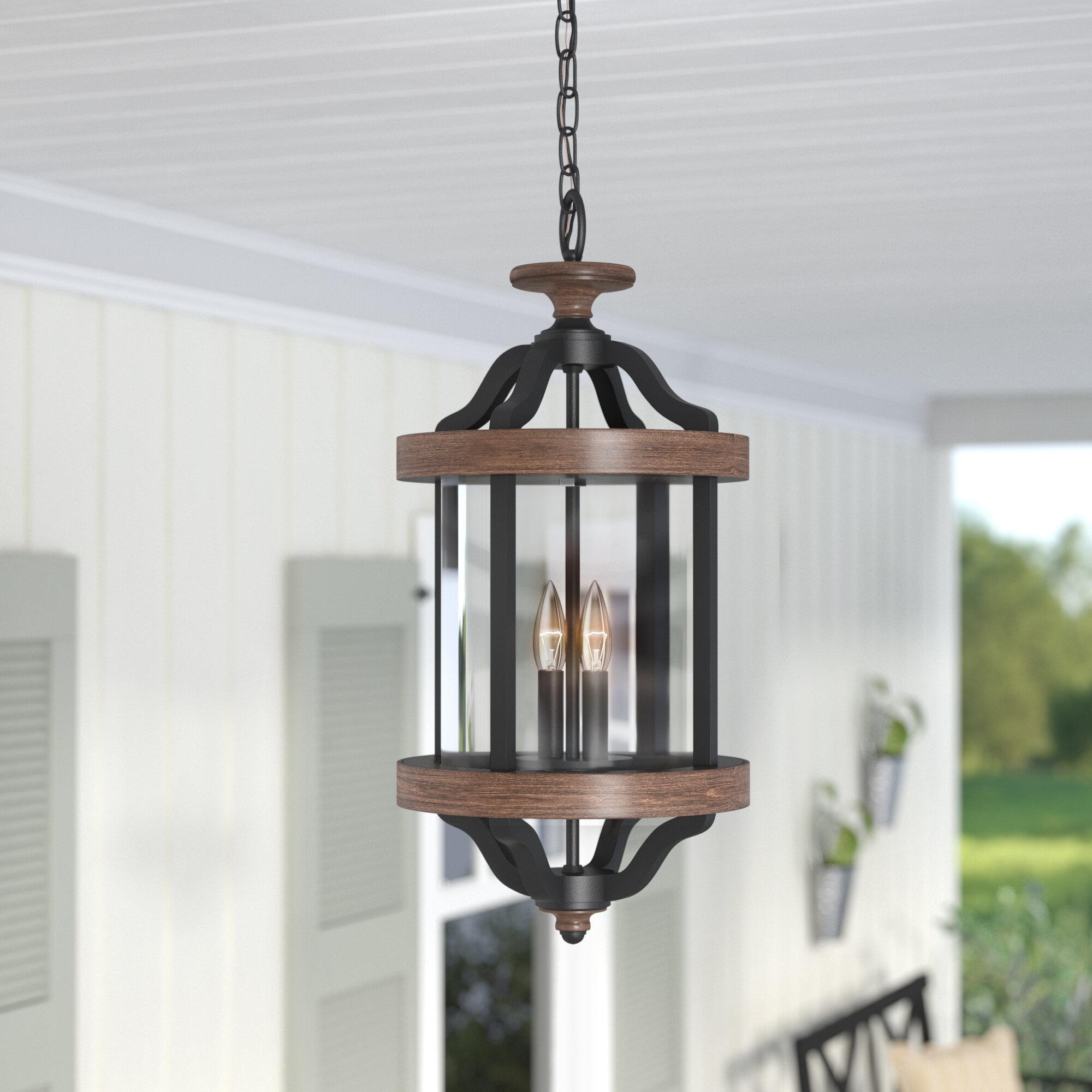 Laurel Foundry Modern Farmhouse Elisabetta 2 Light Outdoor Pendant Reviews Wayfair