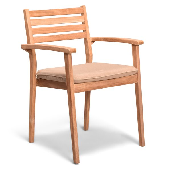 Culbertson Teak Patio Dining Chair by Highland Dunes