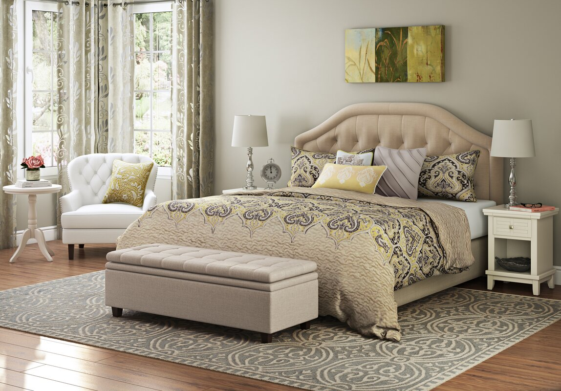 Wayfair Upholstered Bed Home Wayfair Upholstered Bed King: Alcott Hill Brook Farm King Upholstered Panel Headboard