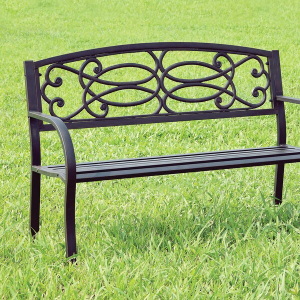 Boyland Steel Park Bench by Fleur De Lis Living