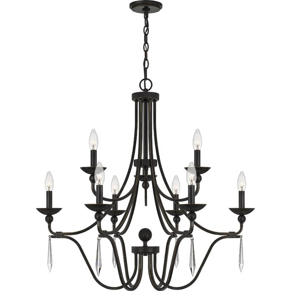 Naccarato 9 - Light Candle Style Tiered Chandelier by Canora Grey Canora Grey