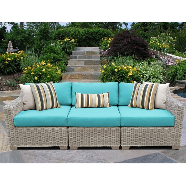 Claire Patio Sofa with Cushions by Rosecliff Heights Rosecliff Heights
