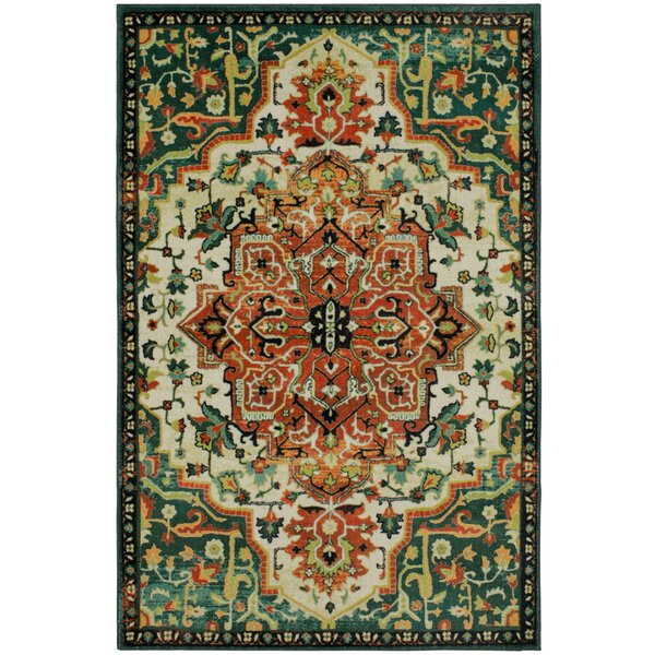 Genest Teal Area Rug by Darby Home Co