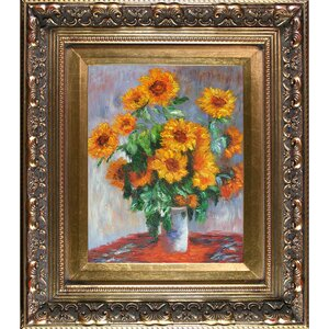 Sunflowers by Claude Monet Framed Painting Print by Tori Home