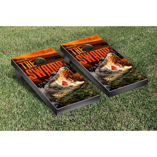 NCAA Florida UF Gators This Is The Swamp Version Cornhole Game Set by Victory Tailgate