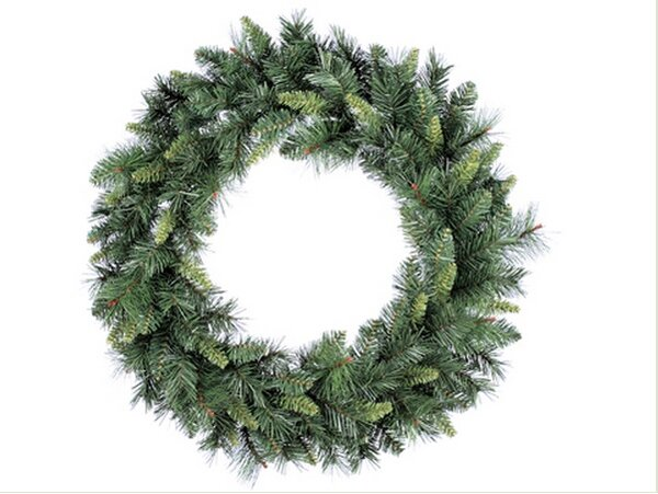30 Artificial Linda Mixed Pine Christmas Wreath by Tori Home