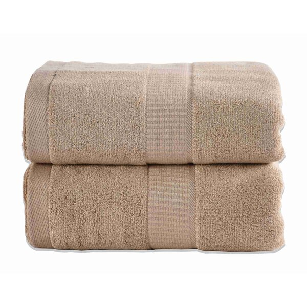 Gerwalta Rayon from Bamboo Bath Towel (Set of 2) by Highland Dunes