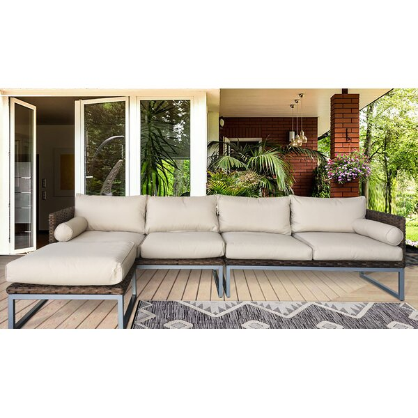 Honeycutt Patio Sofa with Cushions by Brayden Studio