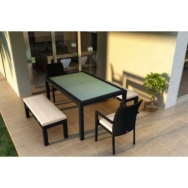 Urbana 6 Piece Sunbrella Dining Set with Cushions by Harmonia Living