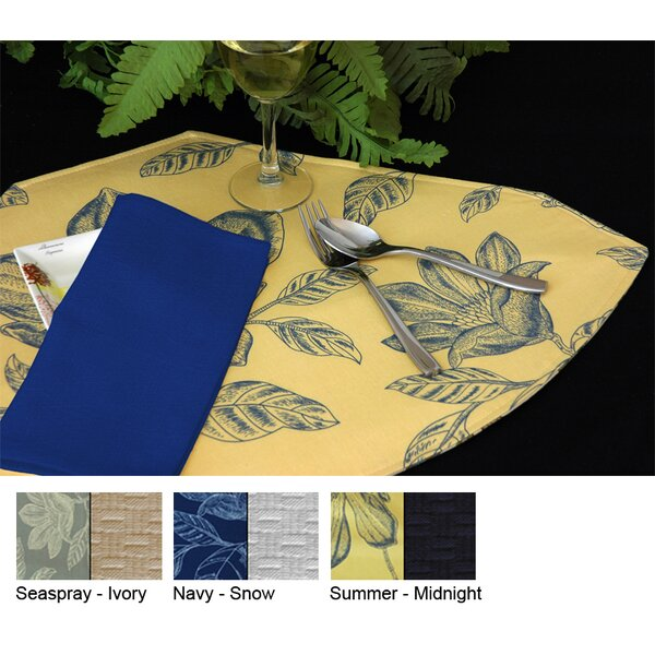 Bouquet Reversible Wedge Placemat (Set of 2) by Pacific Table Linens
