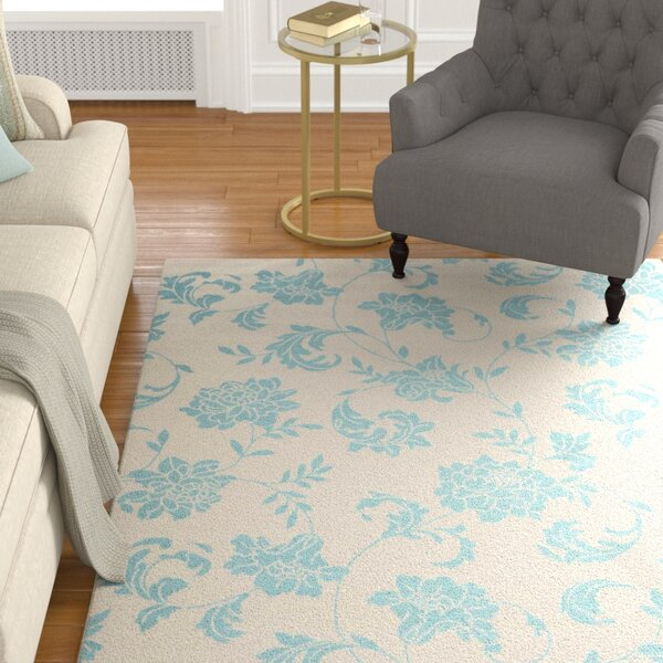 Sigel Blue/Ivory Indoor/Outdoor Area Rug by Alcott Hill