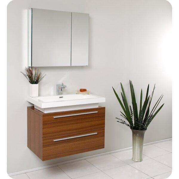 Senza Medio 31 Single Bathroom Vanity Set with Mirror by Fresca