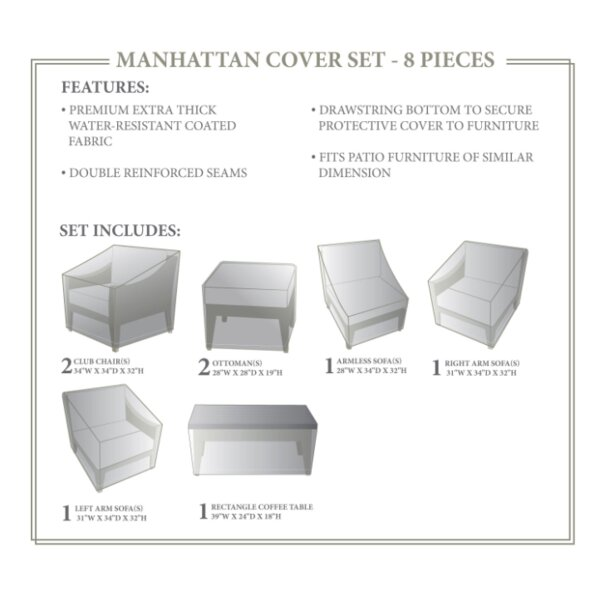 Manhattan Winter 8 Piece Cover Set by TK Classics