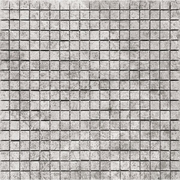 Marble 0.625 x 0.625 Stone Mosaic Tile in Antique Gray Polished by Parvatile