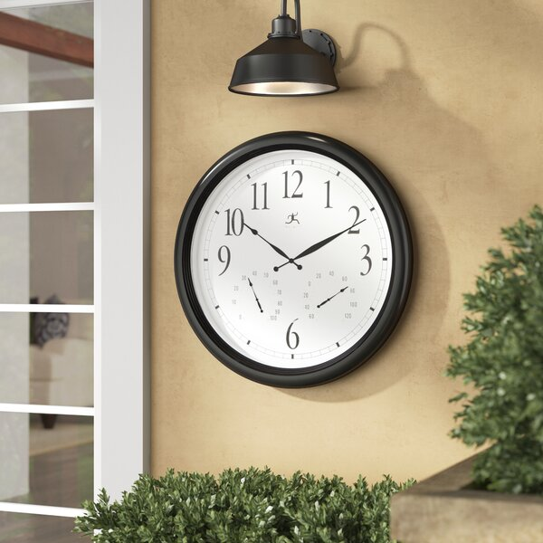 Ernesha Oversized 24 Definitive Wall Clock by Darby Home Co
