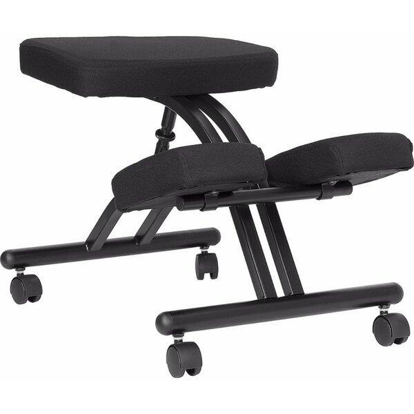 Height Adjustable Kneeling Chair with Dual Wheel