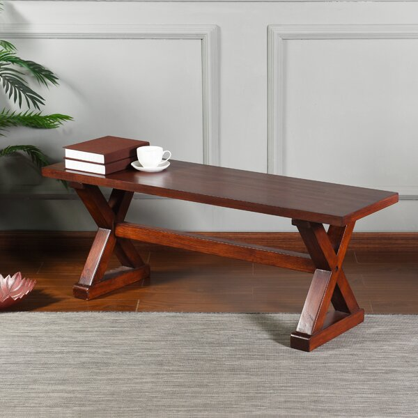 Jaxson Wood Bench by Charlton Home