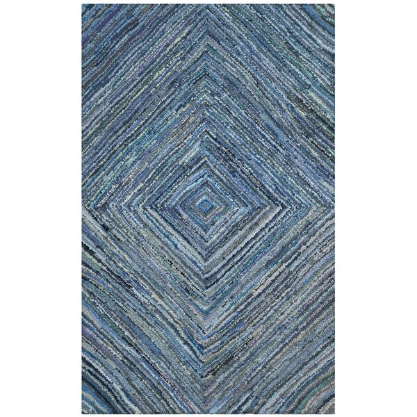 Mueller Hand Tufted Cotton Blue Area Rug by Bloomsbury Market