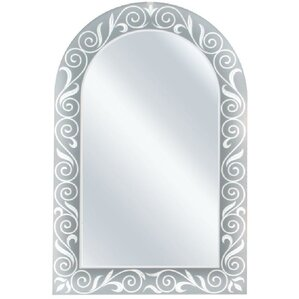 Arch Etched Border Accent Wall Mirror