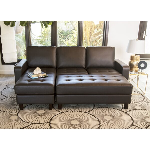 #1 Leitner Modular Sectional With Ottoman By Latitude Run Modern