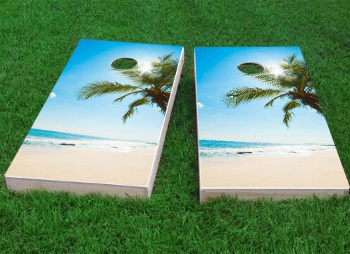 Palms Cornhole Game (Set of 2) by Custom Cornhole Boards