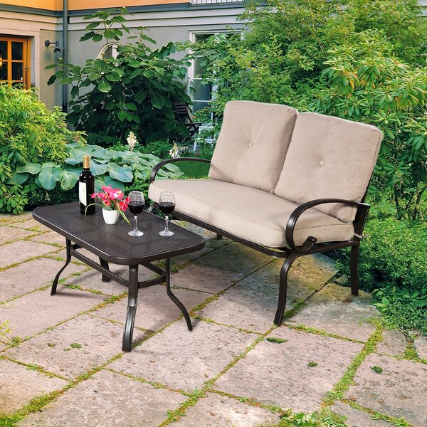Davenport Outdoor 2 Piece Sofa Seating Group with Cushions by Red Barrel Studio