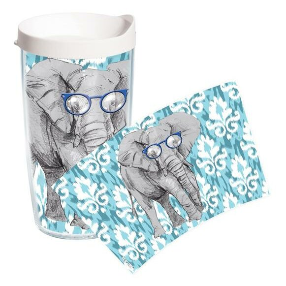 On Trend Elephant Plastic Travel Tumbler by Tervis Tumbler