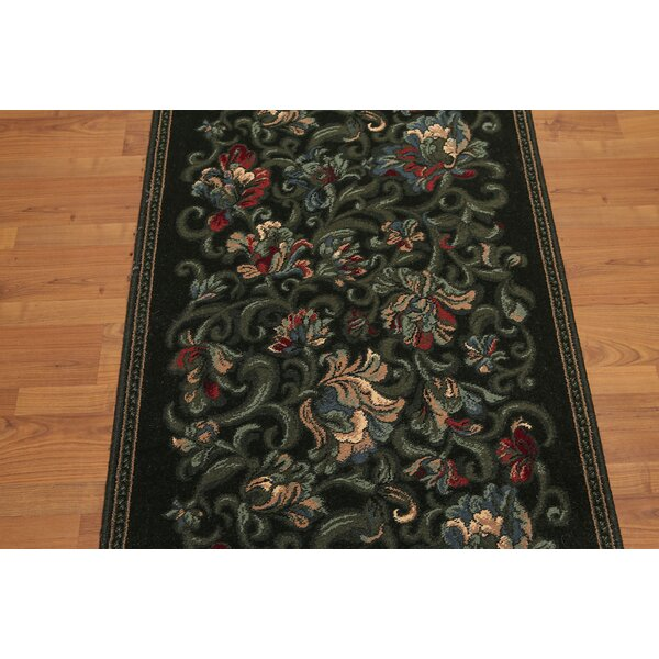 Gerrell Black/Blue Area Rug by Astoria Grand