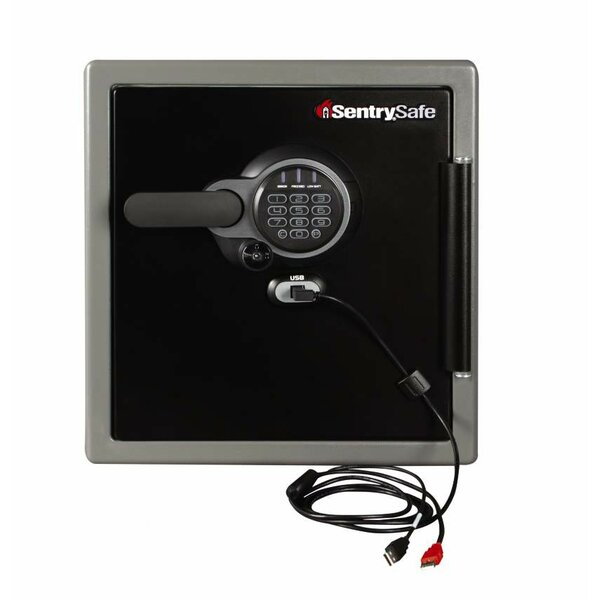 USB Connected Water-Resistant Security Safe with Electronic Lock by Sentry Safe