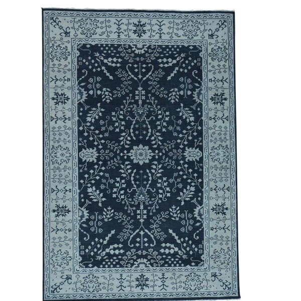 One-of-a-Kind Oritz Knot Oushak Sarouk Oriental Hand-Knotted Area Rug by One Allium Way