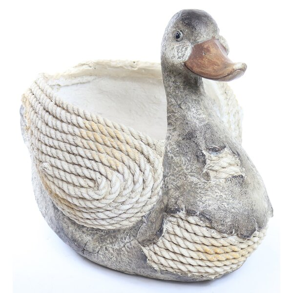Duck Rope Resin Statue Planter by Alpine