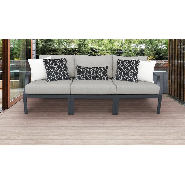 Benner Outdoor Aluminum 3 Piece Sectional Seating Group with Cushions by Ivy Bronx