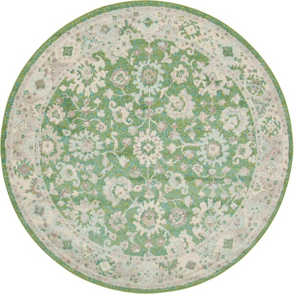 Ernst Green/Gray Area Rug by Bungalow Rose
