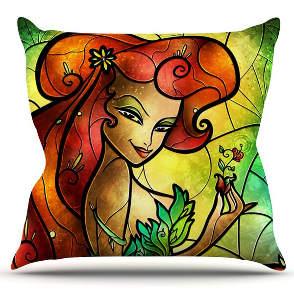 Poison Ivy by Mandie Manzano Outdoor Throw Pillow by East Urban Home