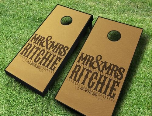 Wedding Mr. and Mrs. Cornhole Set by AJJ Cornhole